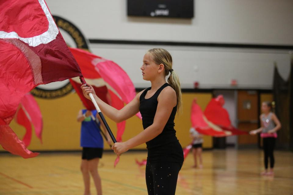 Penn summer dance and flag camp students