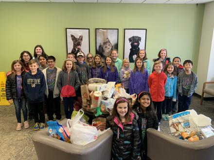 """""""Mustangs Give Back"""" Humane Society Visit on Nov. 3, 2018"""
